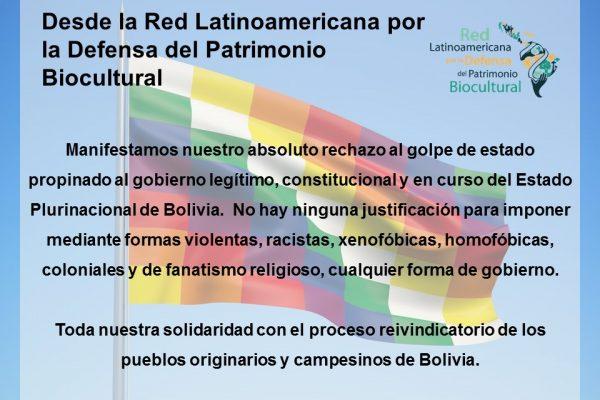 Manifiesto de la Red LDPBC con respecto al golpe en Bolivia
